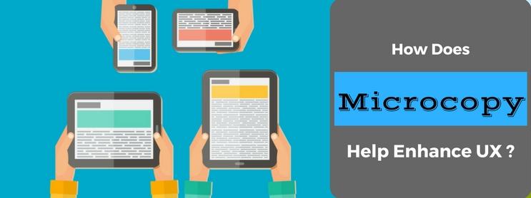 How does MicroCopy help Enhance UX?