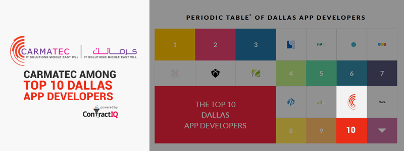 Carmatec Among Top 10 Dallas App Developers
