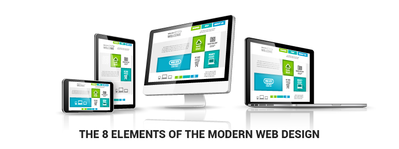 The 8 elements of the modern web design